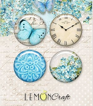 Buttons Forget Me Not badziki Lemoncraft