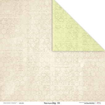 Papier do scrapbooking Beige&Green Joy 04