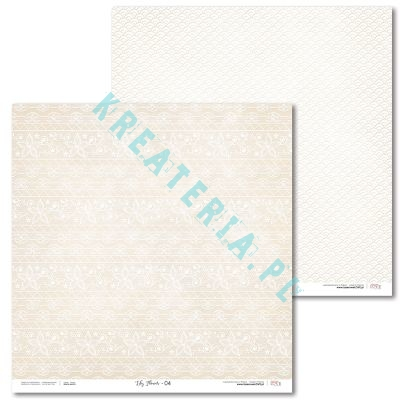 Papier do scrapbooking LaseroweLove Lily Flower 04 (light beige)