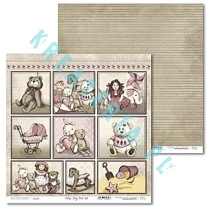 Papier do scrapbooking Vintage Baby Girl 01