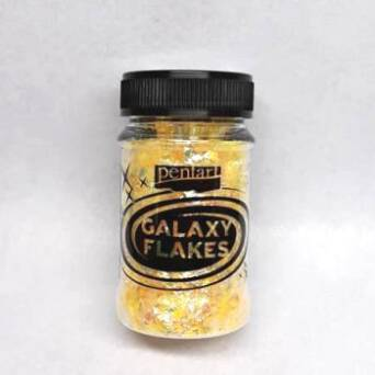 Folia Galaxy Flakes Pluto Yellow Pentart