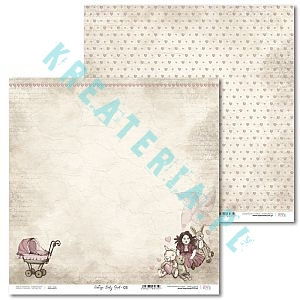 Papier do scrapbooking Vintage Baby Girl 03
