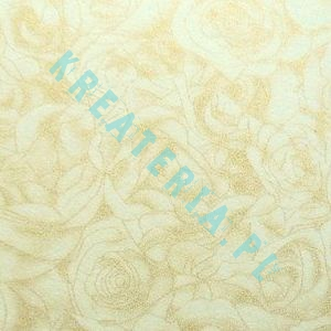 Decorative Cream Paper with Golden Roses