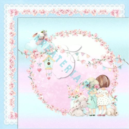 Papier do scrapbooking Girl's Little World 03