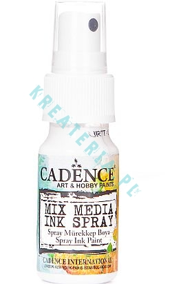 Mixed Media Cadence Tusz spray white, 25ml 001