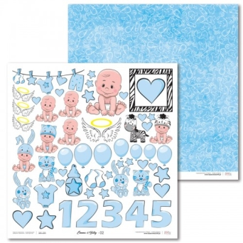 Papier do scrapbooking LaseroweLove - Emma & Billy - 02 (blue)